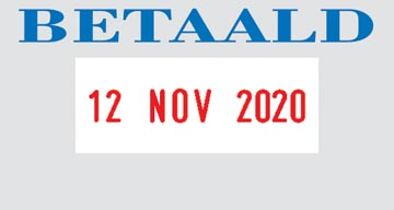 Colop cachet à formules avec date Printer texte: BETAALD