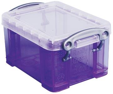 Really Useful Box porte-cartes de visite 0,3 litres, pourpre transparent