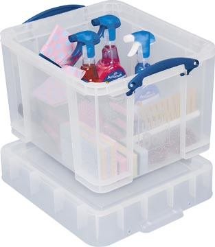 Really Useful Box boîte de rangement 35 l, couvercle XL, transparent