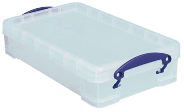 Really Useful Box boîte de rangement 4 l, transparent