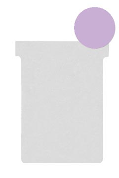 Nobo fiches T indice 2, ft 85 x 60 mm, violet